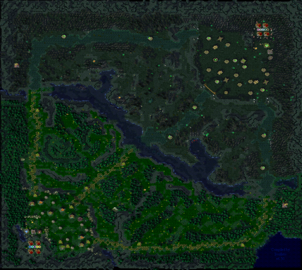 A composited map of the latest DoTA Map